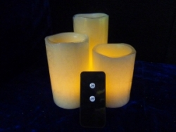 Real Wax Pillar Candle Light(Remote Control)