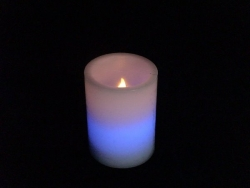 Real Wax Pillar Candle Light(Color Change)